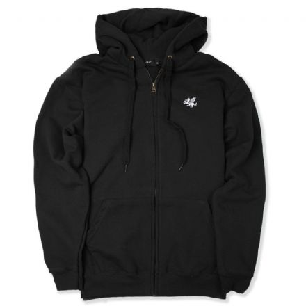 Senlak Zip Hooded Sweatshirt - Black